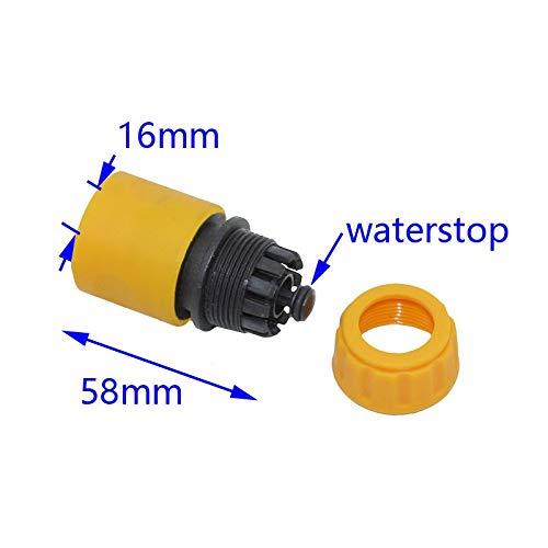 Chentaocs druppels voor broeikaseffect, irrigatie, 16 mm, 5/8 inch, snelaansluiting, tuinslang, adapter voor autowasslang, 1 stuk Geel