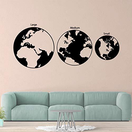 GJQFJBS Cartoon erde dekoration vinyl wandaufkleber wohnzimmer kinderzimmer hintergrund wandkunst aufkleber A3 57 cm X 135 cm