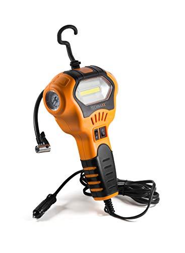 Technaxx 4608 Luftkompressor TX-129 zum Aufpumpen von Reifen und Bällen Manometer LED Arbeitslicht Fahhrad Motorrad PKW