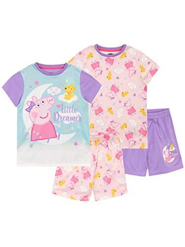 Peppa Pig Pijamas de Manga Corta para niñas 2 Paquetes Multicolor 4-5 Años