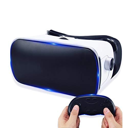 Virtual Reality Brille 3D VR Brille Headset Handy Augenschutz HD für 3D-VR-Filme Videospiele für iPhone 12/11/X/8/7/6 für Samsung S10/S9/Note10/9 Smartphone Android Handys, 4.7-6.8in, H031ZJ