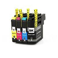 BR社 互換インクカートリッジ LC111(V3) [各1個・4色セット] (M)