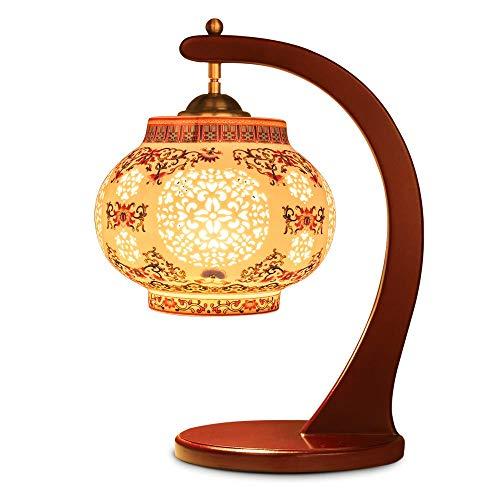 Tafellamp, bedlamp, leeslamp, tafellamp, vaas, doorgebroken, decoratie, lamp van keramiek, warm, Chinese tafel