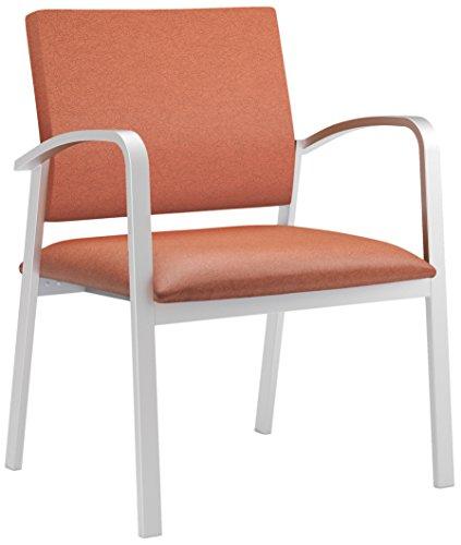 Lesro Newport Healthcare Vinyl Oversized Guest Chair, Renaissance Spice, Silver