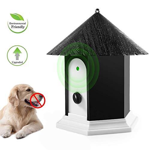 OYEFLY Anti-Bellen-Gerät, Ultraschall Hunde Repeller mit 4 einstellbaren Ultraschall-Lautstärkepegeln, Wasserdichter Bellenstopper für Außenbereich, Sicher für Hunde (Schwarz)