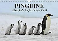 Pinguine - Watscheln im festlichen Kleid (Wandkalender 2022 DIN A4 quer): Koenigspinguine in ihrem natuerlichen Lebensraum (Monatskalender, 14 Seiten )