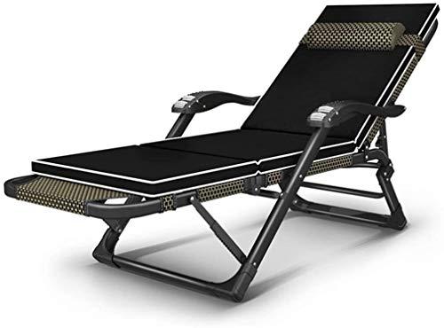 Lhak Sillón reclinable al Aire Libre Sillas Plegables Gravedad Cero, for la Playa Patio Jardín Camping al Aire Libre con extraíble Almohada, sillas reclinables Oficina de Ajuste, Tumbona reclinable