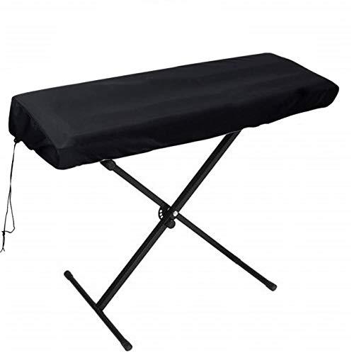 FOGAWA Cubierta para el Teclado de Piano Funda Teclado 88 Teclas Impermeable con Cordón Elástico Ajustable Piano Electrónico Cubierta para Digital Yamaha Casio Roland Consolas 134x29x14cm Negro