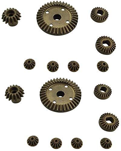 Fytoo 12T 15T 24T 38T Metall vorne und hinten Differential/Metallgetriebe Upgrade Zubehör für 1:18 Wltoys A949 A959 A969 A979 184012 RC Auto Upgrade Ersatzteile