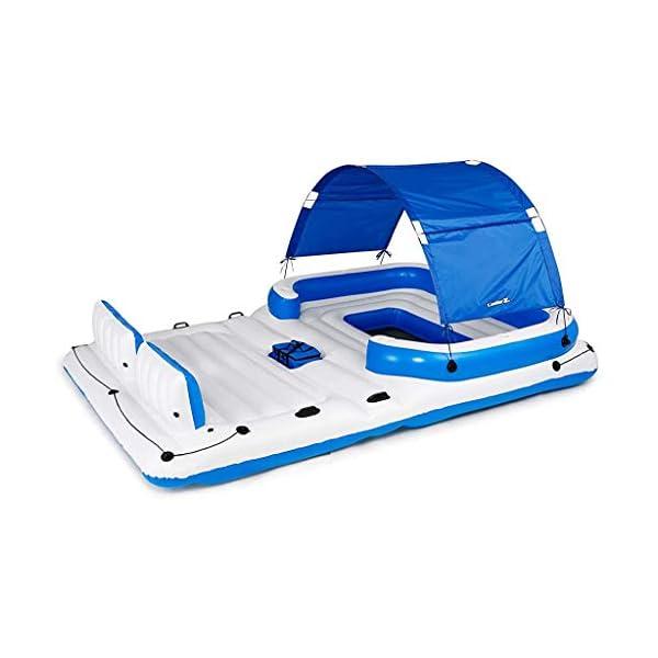 Bestway Hydro Force Tropical Breeze Floating Island Raft | Giant Inflatable Pool...