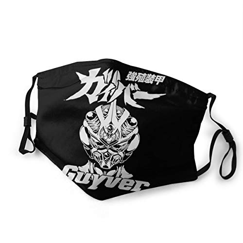 JICOTIA Armor Guyver Unisex Dust mask Double Sided Printing Bandanas Face Cover with 2 Reusable Filters for Cycling Small