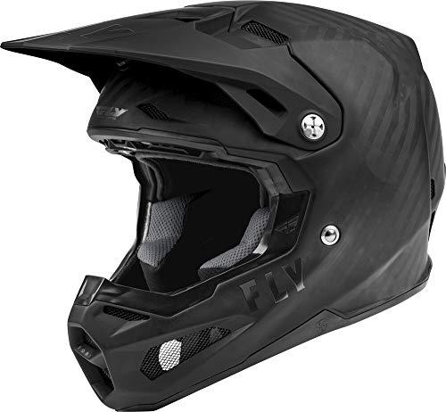 Fly Racing Formula Carbon Solid Helmet (Matte Black Carbon, Medium)