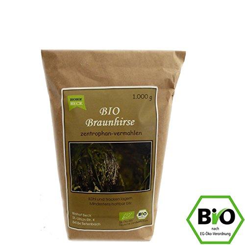 BIO Braunhirse Gemahlen | 1.000 g | Vom Biohof Beck | Kalt-Vermahlen | Wildform | Urhirse