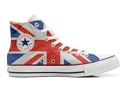 Unbekannt Sneakers American USA - Base Print Vintage - Cutomized - personalisierte Schuhe (Handwerk Produkt) mit britische Flagge - Size EU 43