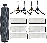 Repuesto de cepillo lateral de filtro de repuesto para aspiradora Ecovacs Deebot N79 N79S Conga Excellence 990 (color: negro): kit 4