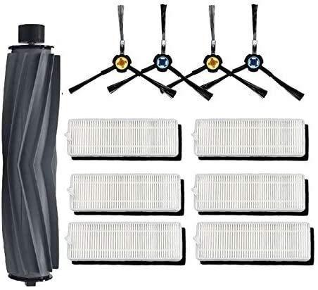 HAOKE Recambio de cepillo lateral para aspiradora Ecovacs Deebot N79 N79S Conga Excellence 990 (color: negro) (color: kit 4)