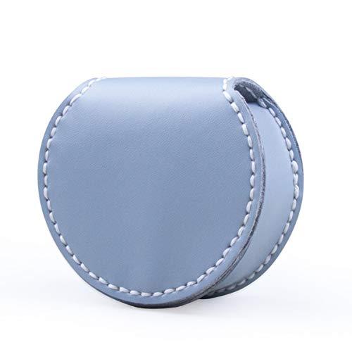 Bolsa De Herradura A Mano De Cuero DIY Monedero Monedero Material Bolsa De Monedero Retro Creativo Mini Mini Color Sólido Monedero Monedero Vacaciones
