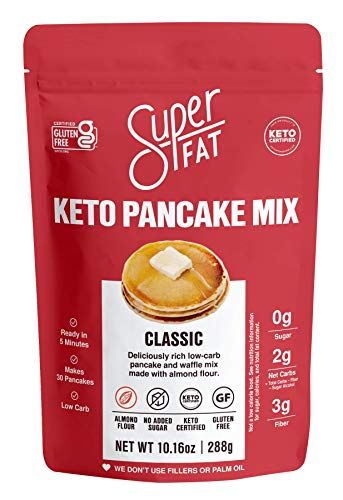 Keto Pancake Baking Mix & Waffle Mix -Fluffy Low Carb Pancakes -Keto Friendly, Diabetic, Paleo, Gluten- Free Breakfast-No Sugar Added Sweet & Treats Protein, Keto Pancakes-30 Pancakes
