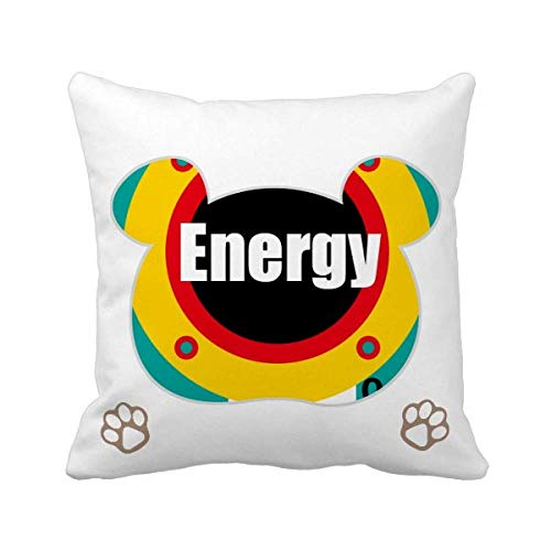 OFFbb-USA Youth Vitality Energy Bear - Funda cuadrada para almohada