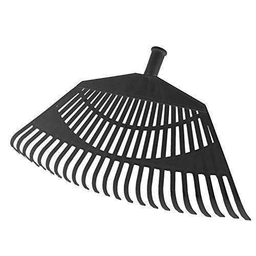 SATURNIA - Rastrillo Jardin Plastico Trapezoidal Color Negro 32 Dientes