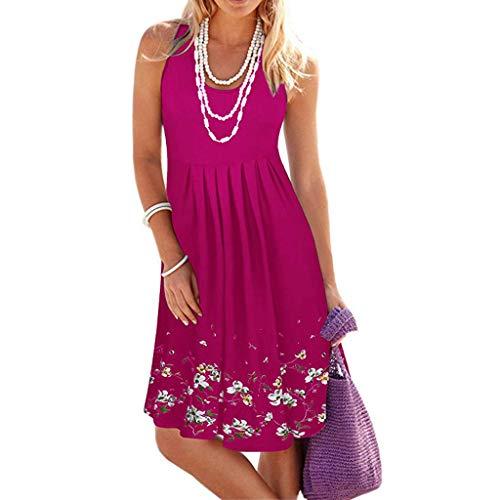 Moda Estive Donna Vacanza Vestito Irregolare Le Signore Abito da Spiaggia Senza Maniche Senza Maniche Spiaggia di Sabbia Vestito Loose Abito Accogliente Gonna Dress Irregolare Abito Estivo da Donna