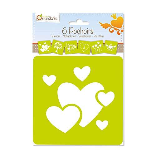 SET 6 PLANTILLAS INFANTIL CORAZONES , color/modelo surtido