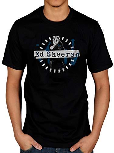 AWDIP Camiseta Oficial de Ed Sheeran con Foto de Escenario