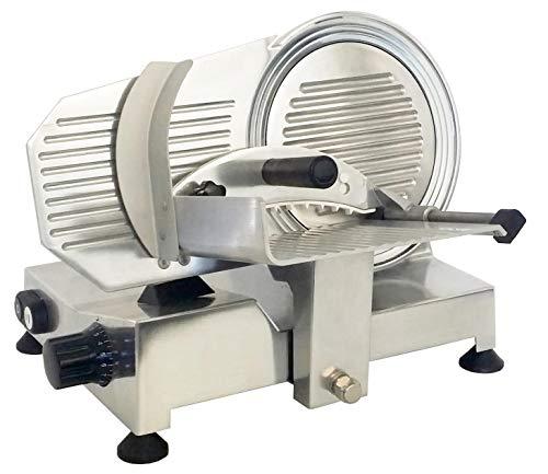 Affettatrice Professionale Diametro 220 mm in Acciaio, corpo in alluminio pressofuso brillantato