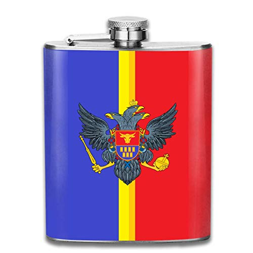 iuitt7rtree Bandera Rumania Stainless Steel Flask Wearproof 7OZ Hip Flask Pocket Flagon Whiskey Wine Flagon Mug