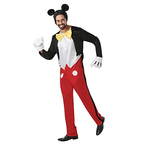 Rubies Officielle Disney Mickey Mouse, Costume Adulte – Taille Standard