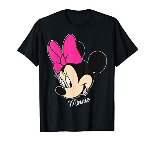 Disney Mickey And Friends Minnie Big Face Signature Camiseta