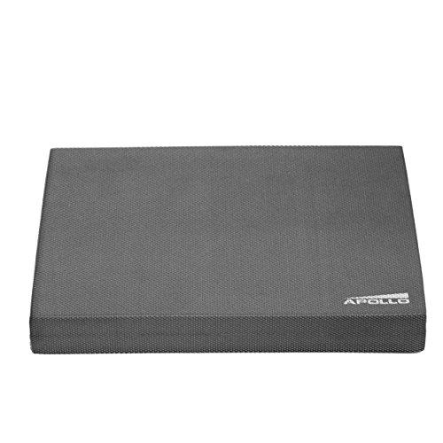 Apollo Cuscino propriocettivo per Equilibrio Balance Pad 24x38x6cm, per Fitness, Yoga e Pilates en Antracite