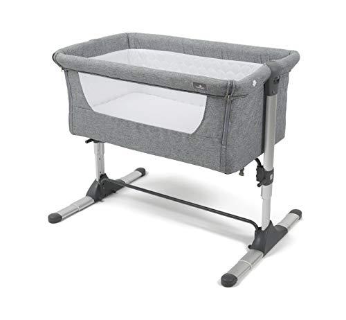 Babylo Snuggle Cuddle Bedside Co Sleeper Crib, Height Adjustable, Mesh Sides, Anti-Reflux, 5cm Mattress
