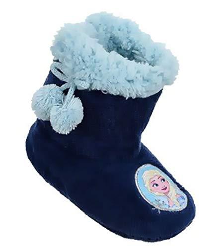Eiskönigin Frozen Stiefel Hausschuhe Teddyfell rutschfeste Sohle Gr.25 26 27 28 29 30 31 32 weich und warm (29/30, Navy)
