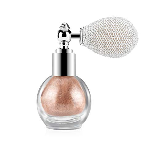 Freeorr Highlighter Powder Spray, Glitter Puder Setting Spray, Beauty Shimmer Sparkle Puder Makeup Spray, für Glow Face Körper Sparkle Powder Cosmetic -Bronze