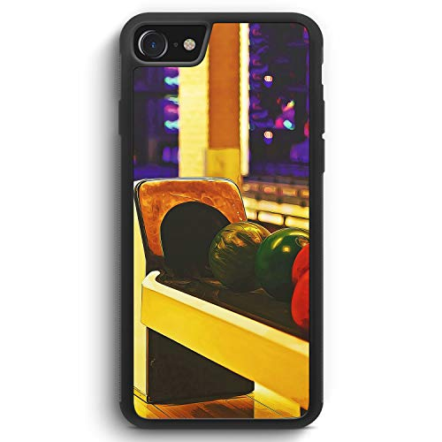 Bowling Kugeln - Silikon Hülle für iPhone 8 - Motiv Design Sport - Cover Handyhülle Schutzhülle Case Schale