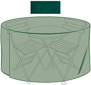 Plow & Hearth Outdoor Furniture All-Weather Cover for Cafe Table & Chairs, in Green
