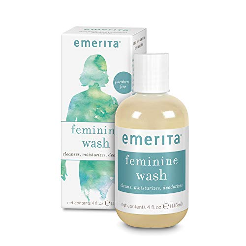Emerita Feminine Cleansing & Moisturizing Wash   Gently Cleanses & Deodorizes   Formulated to Help Support Healthy Vaginal pH   Aloe, Chamomile   4 oz