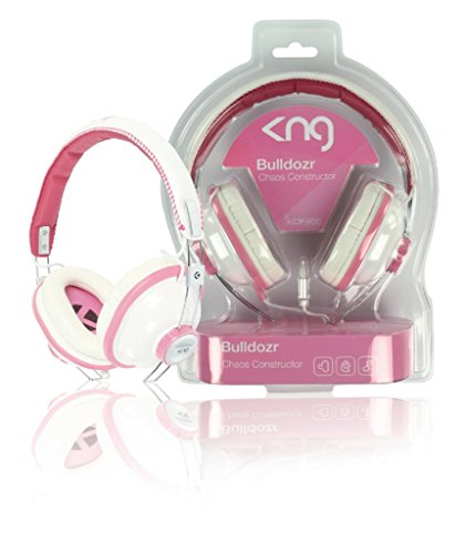 König KNG-5130 Bulldozr Chaos Constructor koptelefoon (3,5 mm jackplug) roze