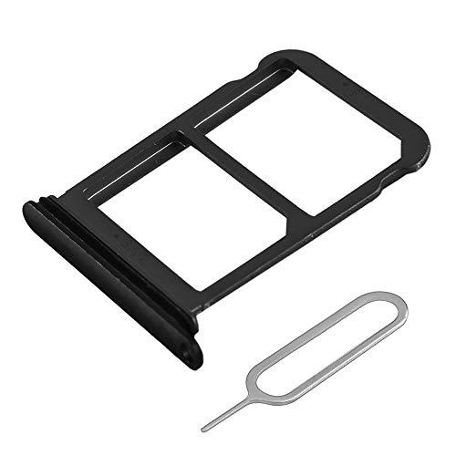 MMOBIEL Vassio Supporto per Carta Dual SIM Compatibile con Huawei P20 5.8 inch (Nero) incl Sim Pin