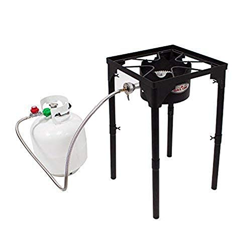 GasOne Portable Propane 100, 000-BTU High Pressure Single Burner Camp Stove & Steel Braided...