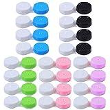 Jinlaili 20PCS Caja de Lentes de Contacto Kit de Viaje, Stuche para Lentes de Contacto, Estuche para Lentes de Contacto, Caja Para Lentillas, Estuche Lentillas - Verde Azul Rosa Negro