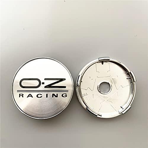 ZHAOSHOP 4 unids 56mm 60mm OZ Racing Coche Centro de Ruedas Cordilleras Insignia Emblema Pegatina Calcomanía Rueda Polvo a Prueba de Polvo Accesorios para automóviles (Color : E)