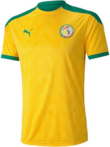 PUMA World Cup Soccer Senegal Football Association Stadium Jersey Mens Senegal Football Association Stadium Jersey, Dandelion-Pepper Green, L