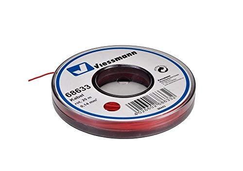 Viessmann 68633 Kabel 25 m, 0,14 mm², rot