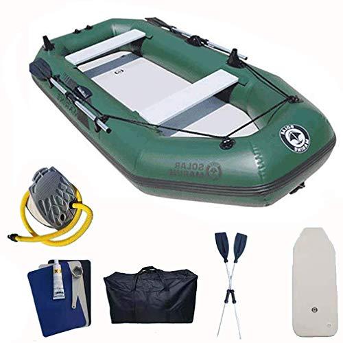 Zixin Adultes Pêche Kayak de mer Petit Bateau Gonflable avec Paddle for Piscine Jeu de Plage, Vert foncé, 175 * 103cm