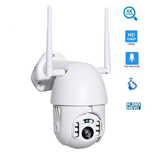WYJW IP-Kamera 1080P HD-Überwachungskamera, unterstützt Handy/PC, Fernbedienung, IR-Nachtsicht, Bewegungserkennung, 128G-Aufnahme, wasserdicht, für drinnen/draußen