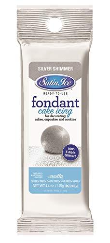 Satin Ice Silver Shimmer Fondant, Vanilla, 4.4 Ounces