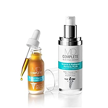 MD Complete Wrinkle Retinol Duo Wrinkle Radiance Remedy PLUS and Retinol Vitamin C Concentrate