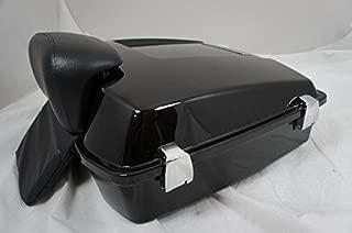 Vivid Black Premium Razor Tour Pak for Harley Touring with Chopped Backrest (TP-004-PREM)